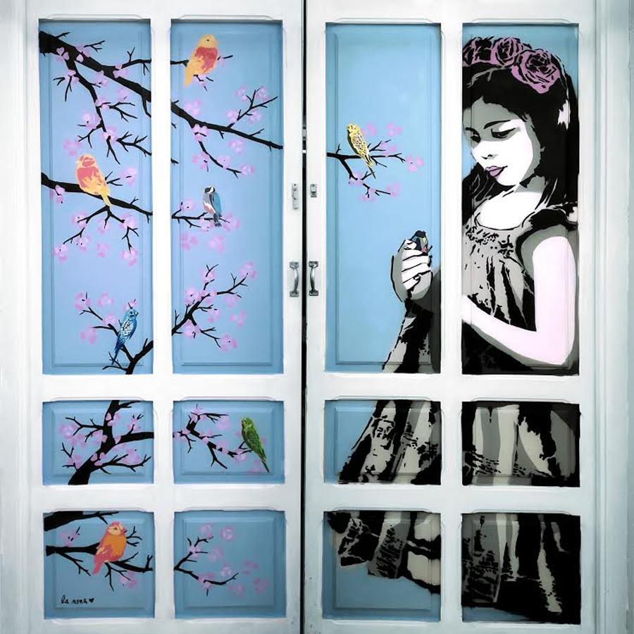 NENA WAPA Artista perteniencte al colectivo Wall Arttitude