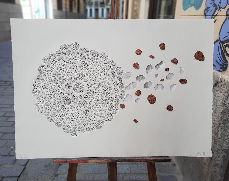 Mª JOSÉ PLANELLS. Artista que destaca en nuestro estudio por su cuidada y única obra gráfica